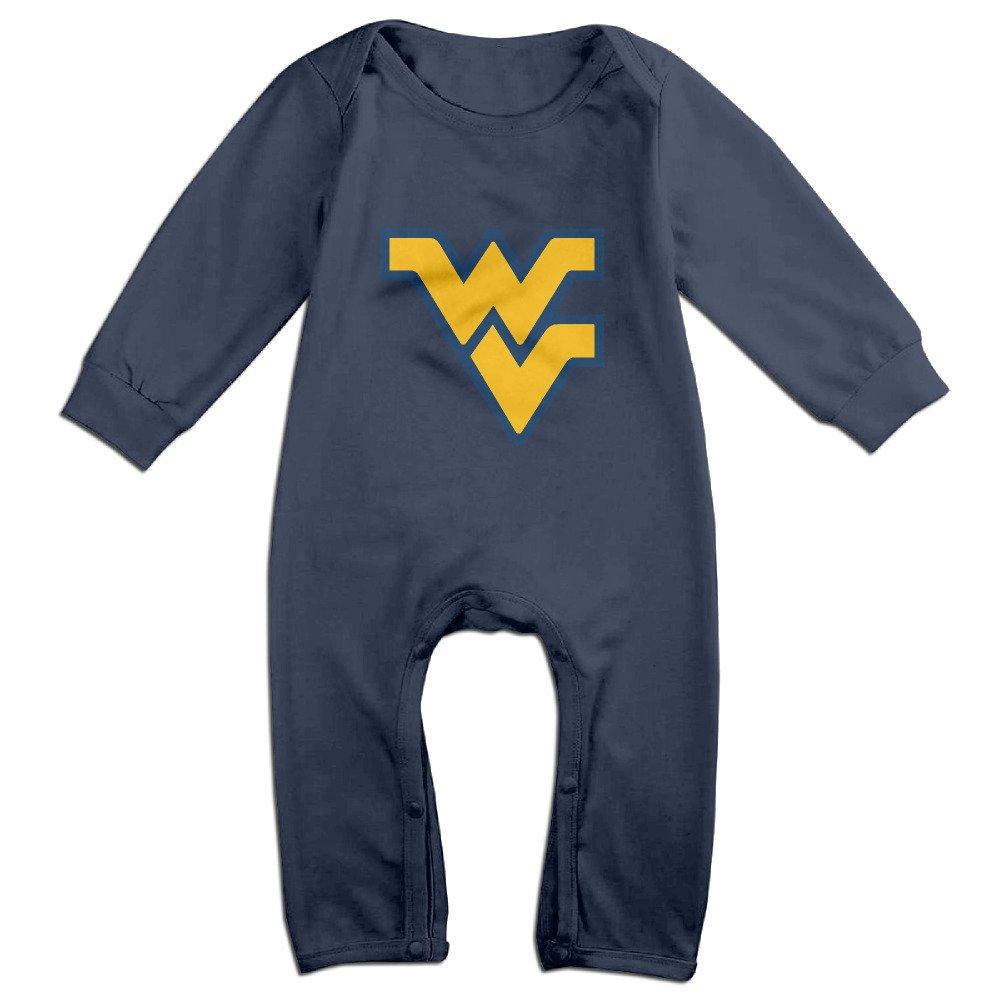 Cute University Of West Virginia Romper For Newborn Baby Navy