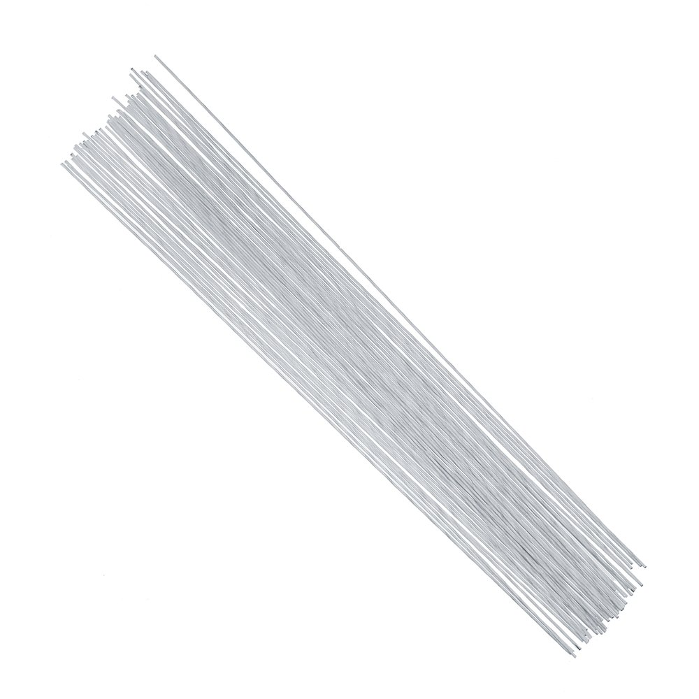 DECORA 18 Gauge White Floral Stem Wire 16 inch,50//Package