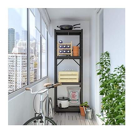 new styles cbb2d ba3c2 Amazon.com: IKEA Bror Shelving Unit Black 892.764.63 Size 25 ...