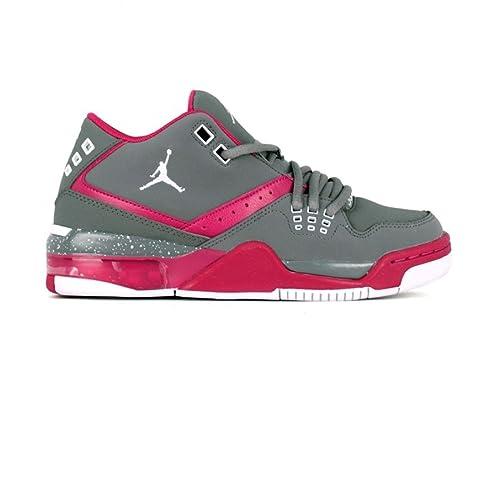 Zapatillas de Baloncesto, diseño de Jordan 23 Flight Jr para niña, Color Gris/Fucsia h15-Jordan: Amazon.es: Zapatos y complementos