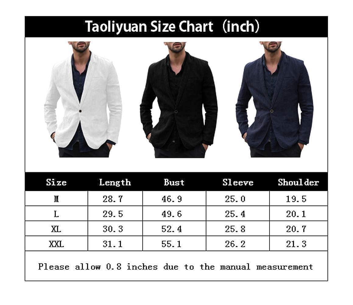 Amazon.com: Taoliyuan - Abrigo deportivo de lino para hombre ...