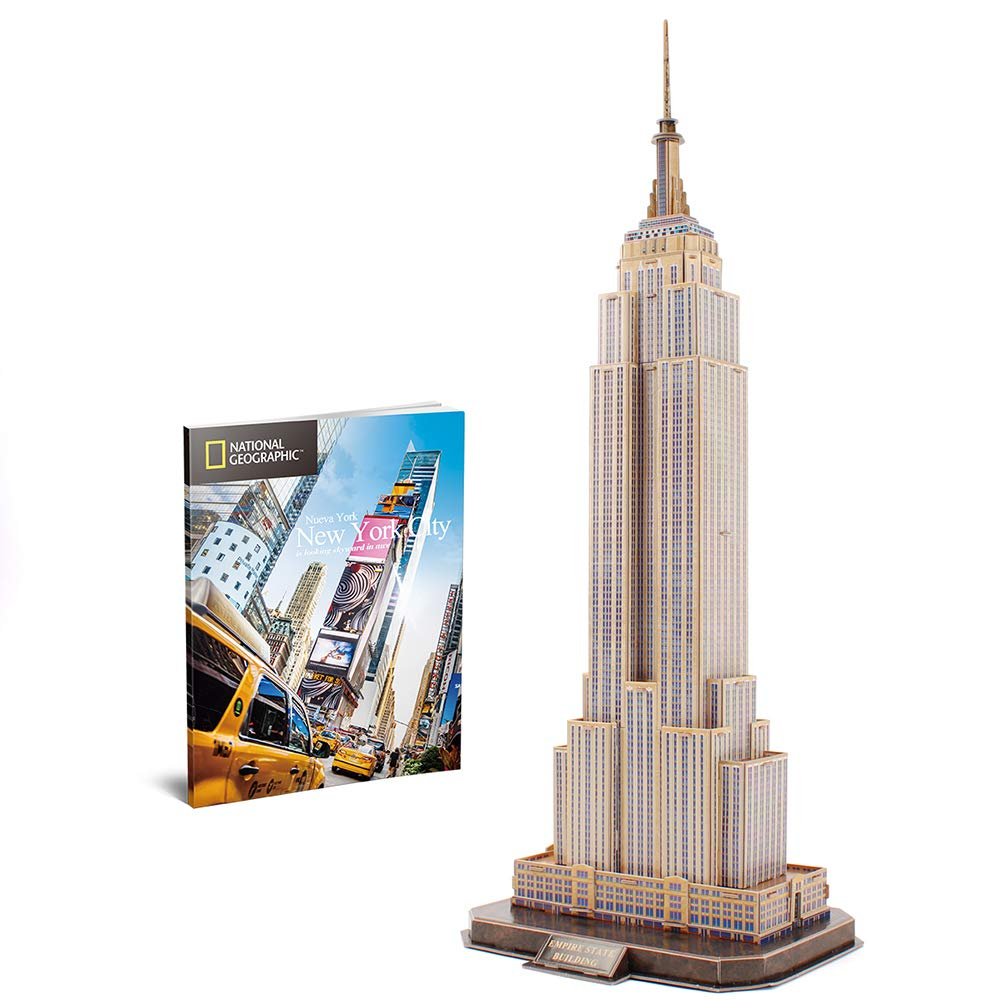 CubicFun-National Geographic New York Skyline Model kit Puzzle Toys,Empire State Building DS0977h