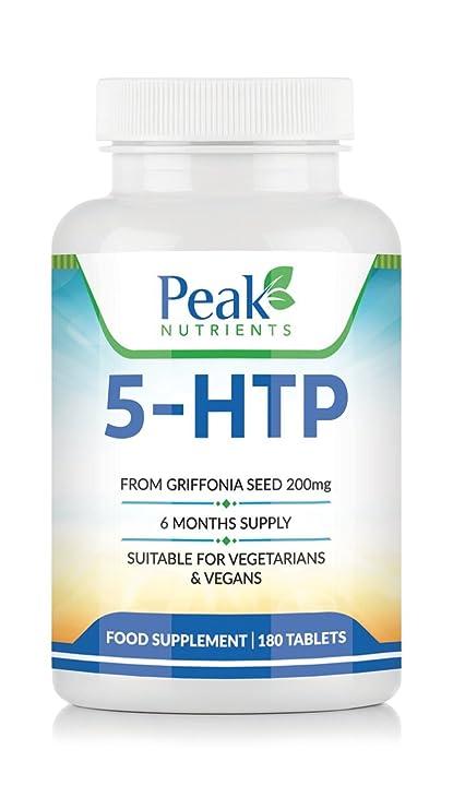 5-HTP de Alta Concentración (200 mg), 180 Comprimidos (Suministro para