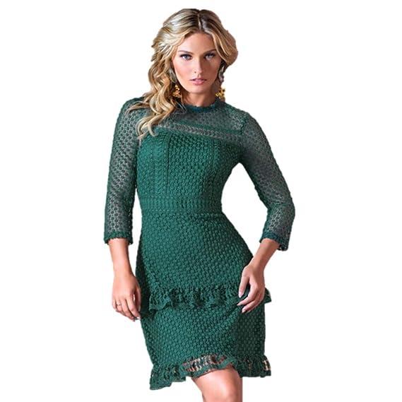 b78d50ea3 cklass Vestido Corto Crochet: Amazon.com.mx: Ropa, Zapatos y Accesorios