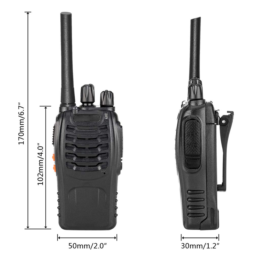 4 x Leazdm LE-88A UHF Two Way Radios Walkie Talkie Set Rechargeable 2800mAh