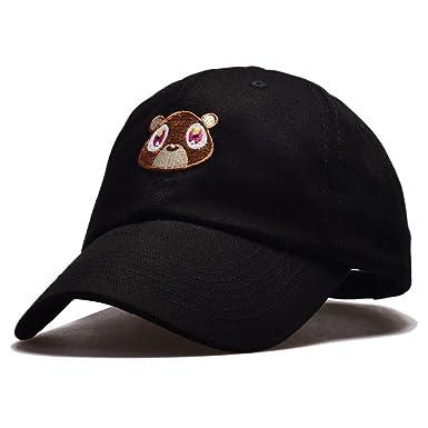 969826ccb Himozoo Cute Bear Embroidered Strapback Baseball Cap Unisex Cotton  Adjustable Dad Hat White
