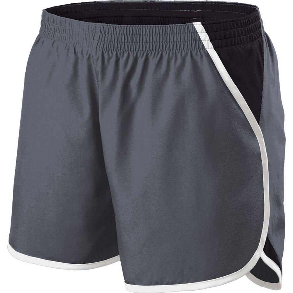 Holloway Sportswear Girls Energize Shorts. 229425 Graphite / Black / White XL