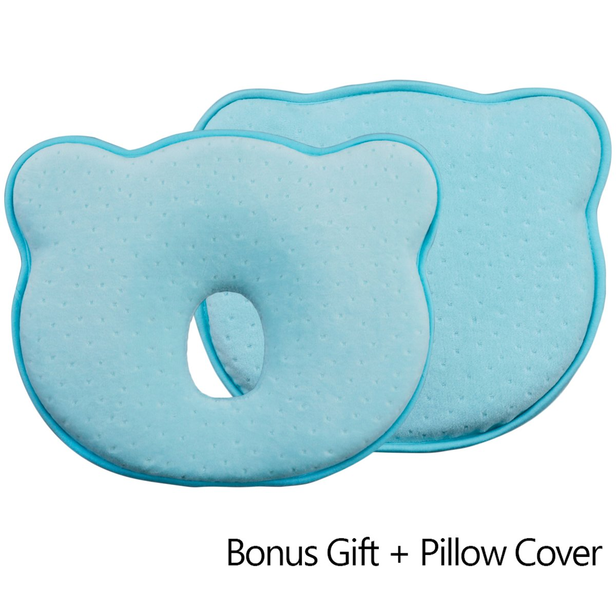 ebeau Baby Pillow Newborn Nursing Pillow for Baby and Infant Head Support & Flat Head Syndrome Prevention Memory Foam Pillow Suitable for Infants from 0-12 Months