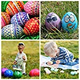 YunKo 6Pcs Wooden Faux Fake Nest Eggs Easter Eggs