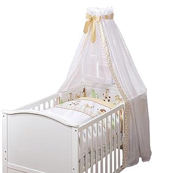 4 Teiliges Bettwäsche Set Safari Mit Aufwendiger Applikation Baby