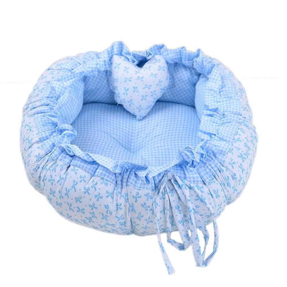B 110cm B 110cm Byx- Pet Nest Kennel Cat Litter Pet Nest Teddy Dog Nest Autumn And Winter Kennel Pet Mat Warm Cute Pink Round Dog Mattress Cotton NestPet nest (color   B, Size   110cm)