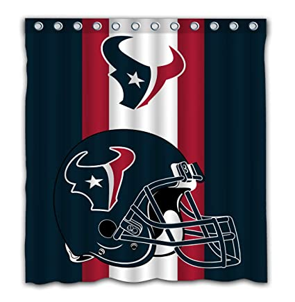 Image Unavailable Not Available For Color Potteroy Houston Texans Team Simple Design Shower Curtain