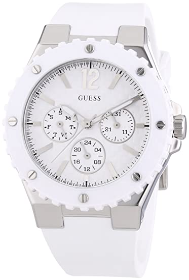Guess Bianco W90084l1 Gomma Donna Orologio nwN8m0