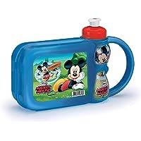 Plasduran 440787, Lancheira com Garrafa Mickey Mouse, Kit Lanche, Multicor