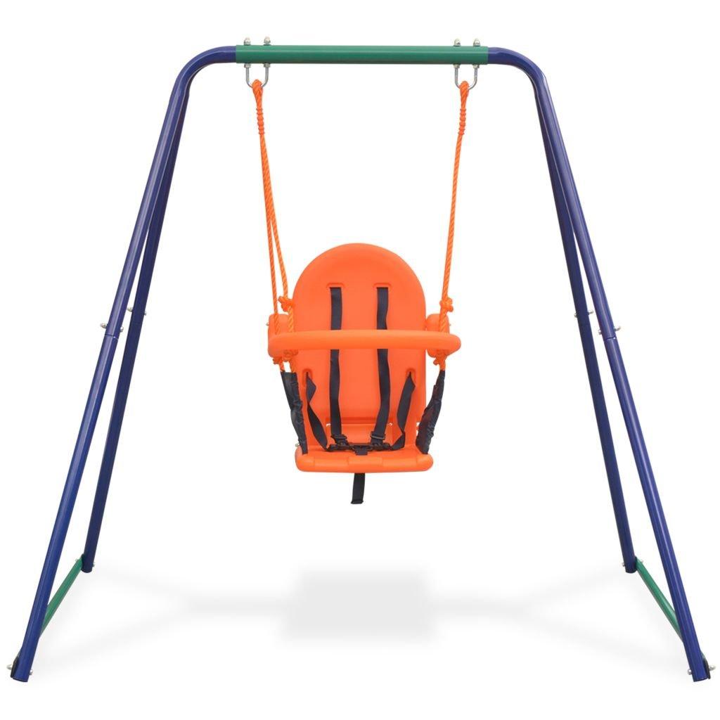c6447e787 vidaXL Columpio para Niño y para Bebé 2 en 1 Asiento Naranja Juguete  Infantil: Amazon.es: Juguetes y juegos