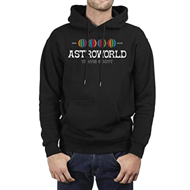 71943d057d76 Young Men Travis-Scott-Astroworld-Album-Logo- Fleece Long Sleeve Pullover