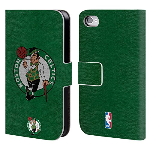 Official NBA Distressed Boston Celtics Leather Book Wallet Case Cover For Apple iPhone 4 / 4S