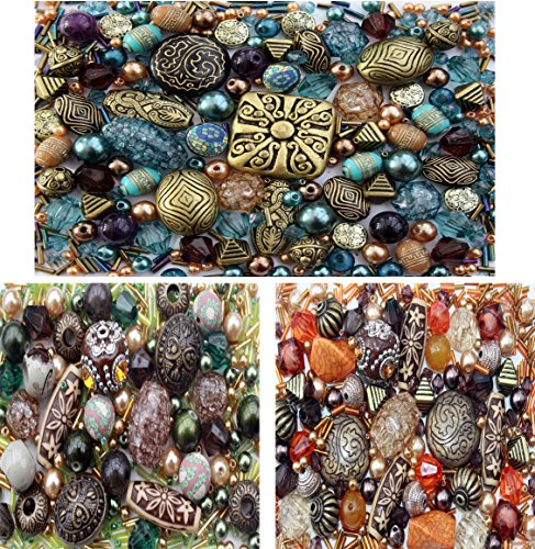 3 x packs of Acrylic Jewelry Making Mixed Beads - Vintage Costume Jewelry Making Supplies