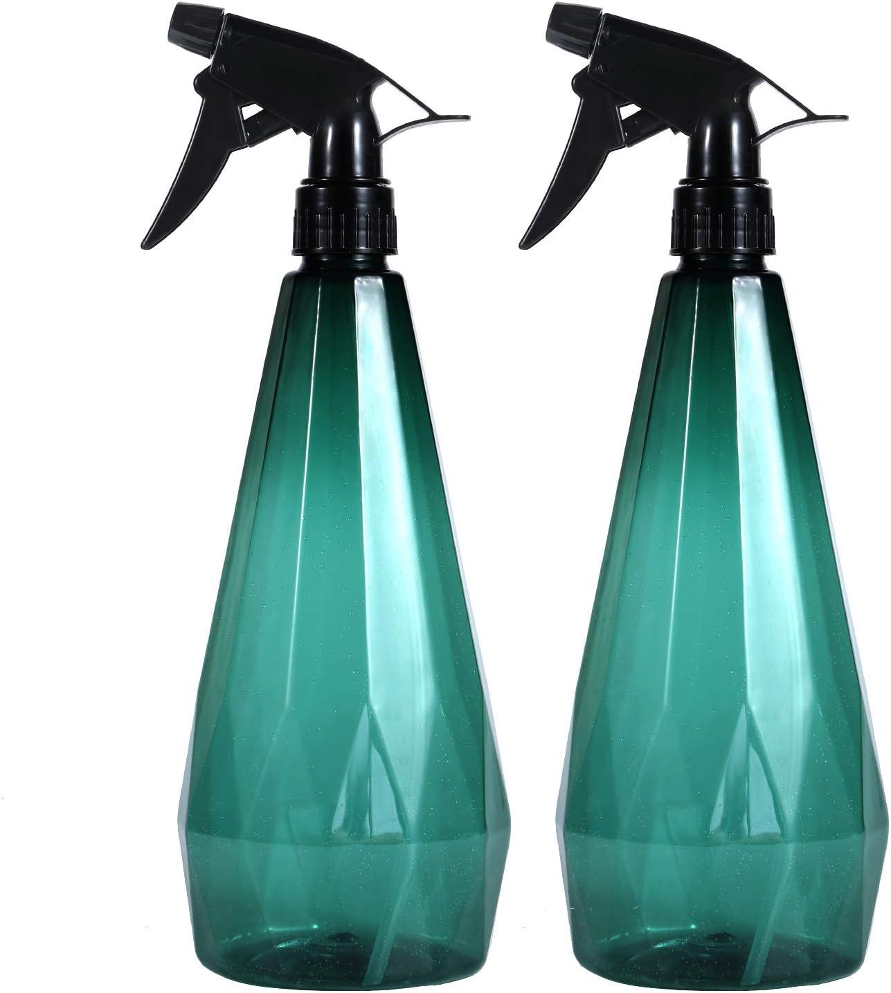 1L//32 oz Plant Mister Leak Proof Empty Mist Water Bottle for Cleaning Solution Hair Pet Flowers Plants Garden Vaupan Plastic Spray Bottles Trigger Sprayer with Adjustable Nozzle Green