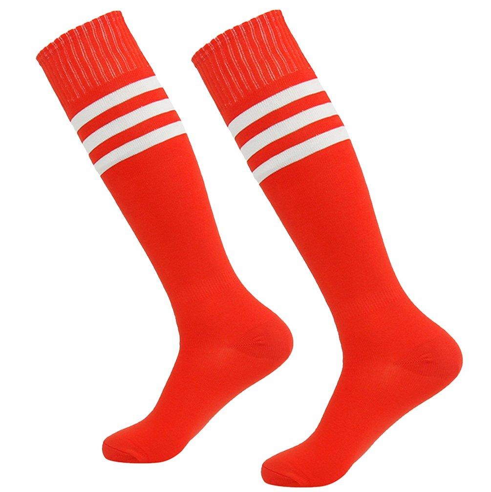 getsporユニセックスFootball Socks Knee HighアスレチックサッカーチューブSock 2 / 4 / 6 / 12ペア B077JNXJWL Red 2 Pairs Red 2 Pairs, トミーズガレッジ 5766a665