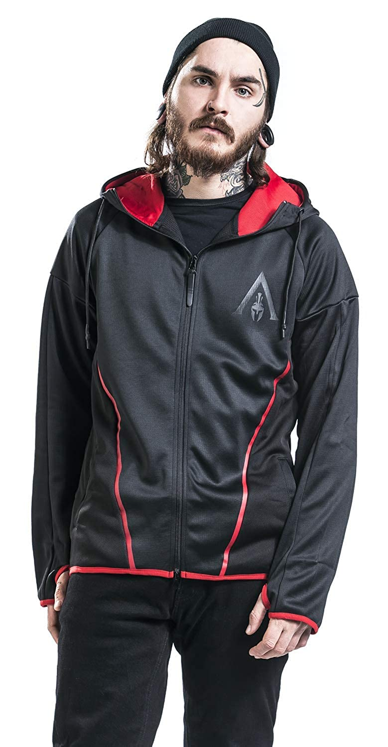 Assassins Creed Odyssey - Technical Hexagonal Sudadera Capucha con Cremallera Negro: Amazon.es: Ropa y accesorios