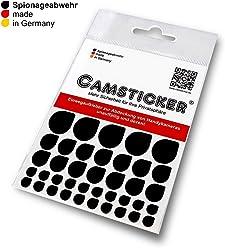 SPIONAGEABWEHR - 39 Stk. CAMSTICKER® - Ø6mm, Ø10mm & Ø15mm - KOMBI-SET - schwarz MATT - Kamera Aufkleber für integrierte Miniwebcams - Für Smartwatch, Handy, Tablet, Notebook, Laptop, Monitor & Fernseher