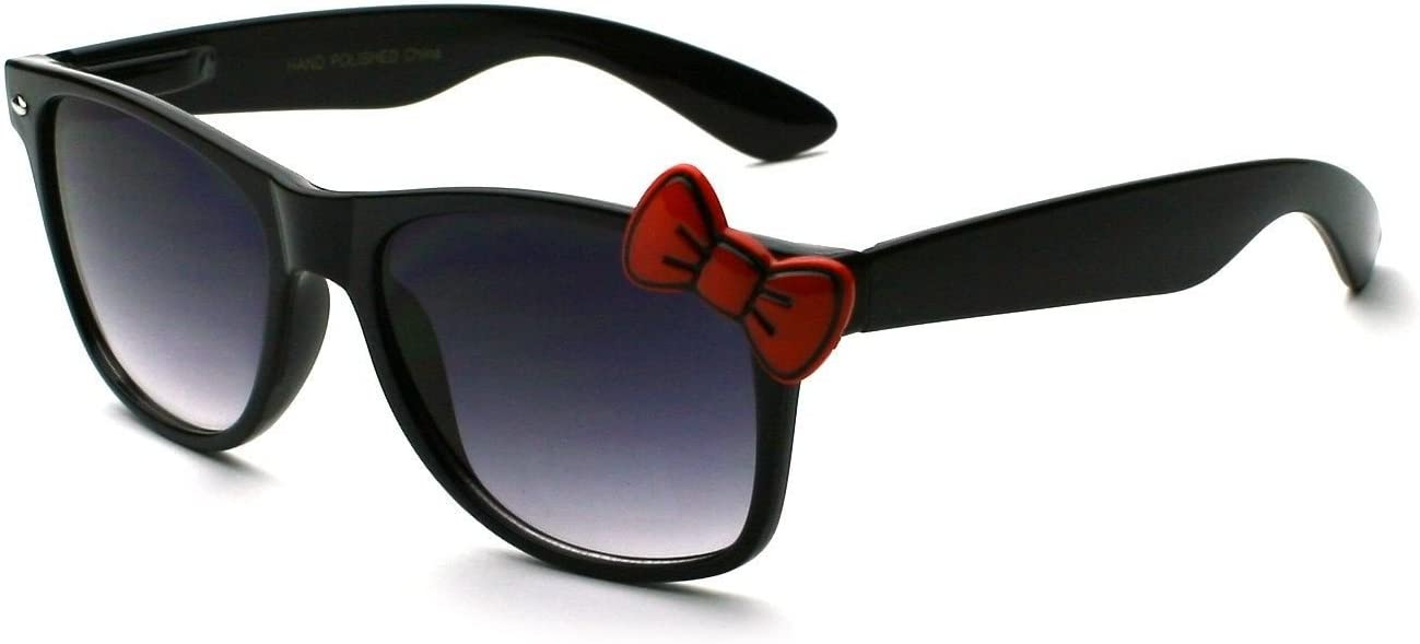 New Bow Tie Vintage Shades Black Frame Women/'s Novelty Sunglasses
