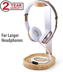 Avantree Universal Wooden & Aluminum Headphone Stand Hanger with Cable Holder for Sony, Bose, Shure, Jabra, JBL, AKG, Gaming Headset and Earphone Display [2 Year Warranty]