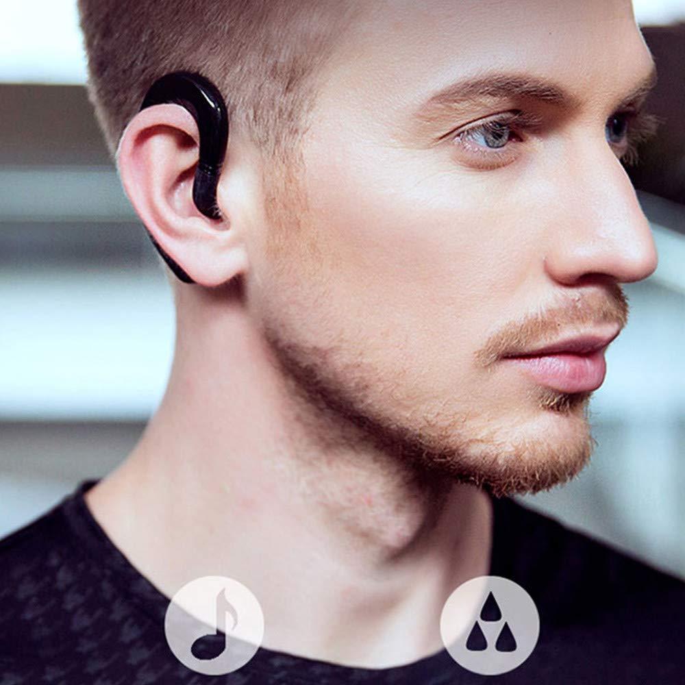 YRD TECH Cordless Bone Conduction Sports Headset BT Wireless Earphones Wireleess Ear Hook Headphones Blueteeth Earbuds