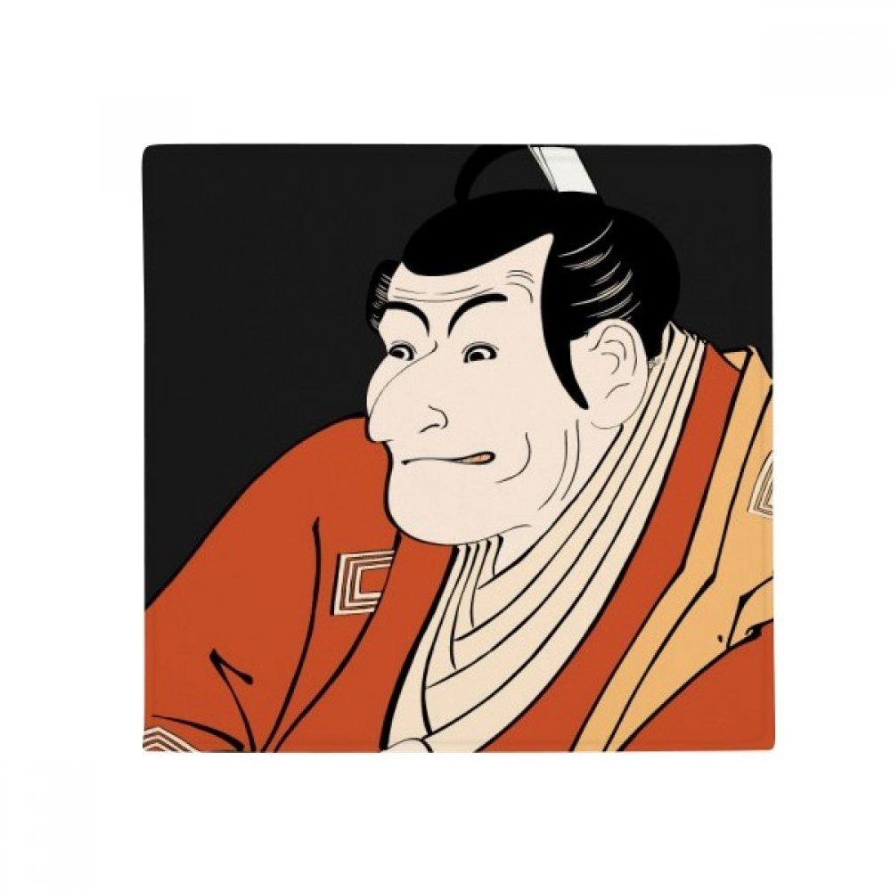 DIYthinker Japanese Style Ukiyoe Male Kimono Anti-Slip Floor Pet Mat Square Home Kitchen Door 80Cm Gift