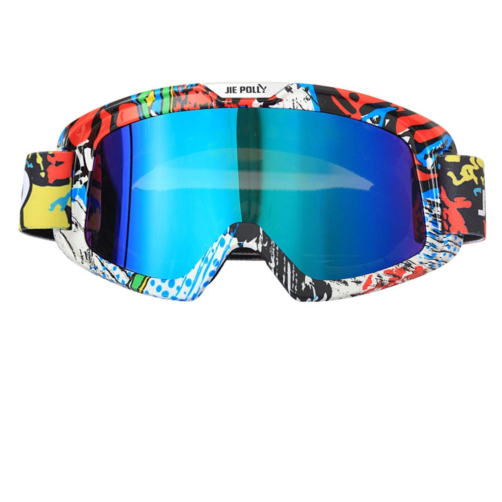 Adisaer Bicycle Goggles Motorcycle Equipment Off-Road ski Sand-Proof Goggles Colorful A03 for Adults