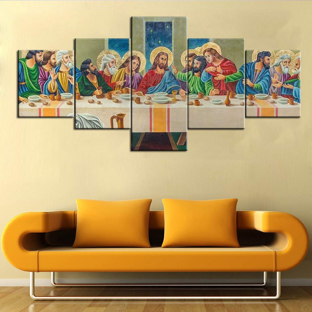 Amazon.com: Christian Pictures The Last Supper Wall Art Decorations ...
