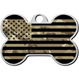 Sulily Duplex Print Sweet Camo American Flag Pet ID Dog Tag,Custom Pet Tag with Pets Name & Contact Number