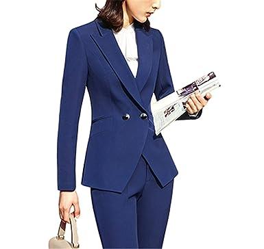 e2e2494b06a10 2 Pieces Set Women Pant Suits Business Office Lady Work Wear Formal ...