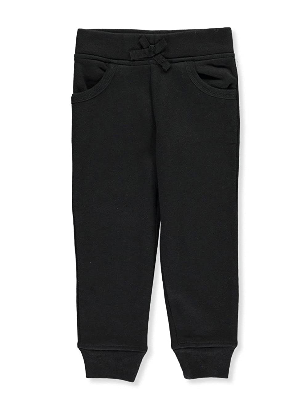 French Toast Little Girls' Toddler Fleece Joggers - Black, 4t
