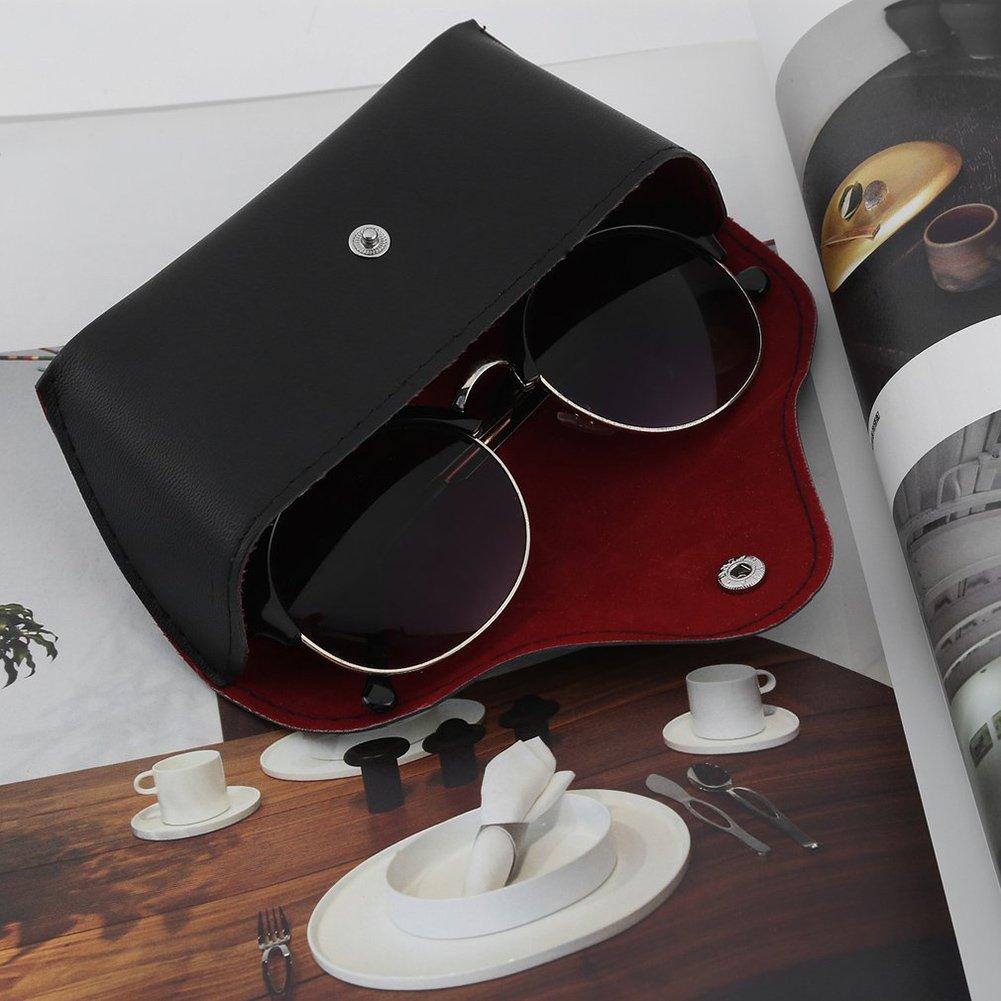 Buyanputra Vintage Faux Leather Sunglasses Eyeglasses Storage Holder Eyewear Glasses Box