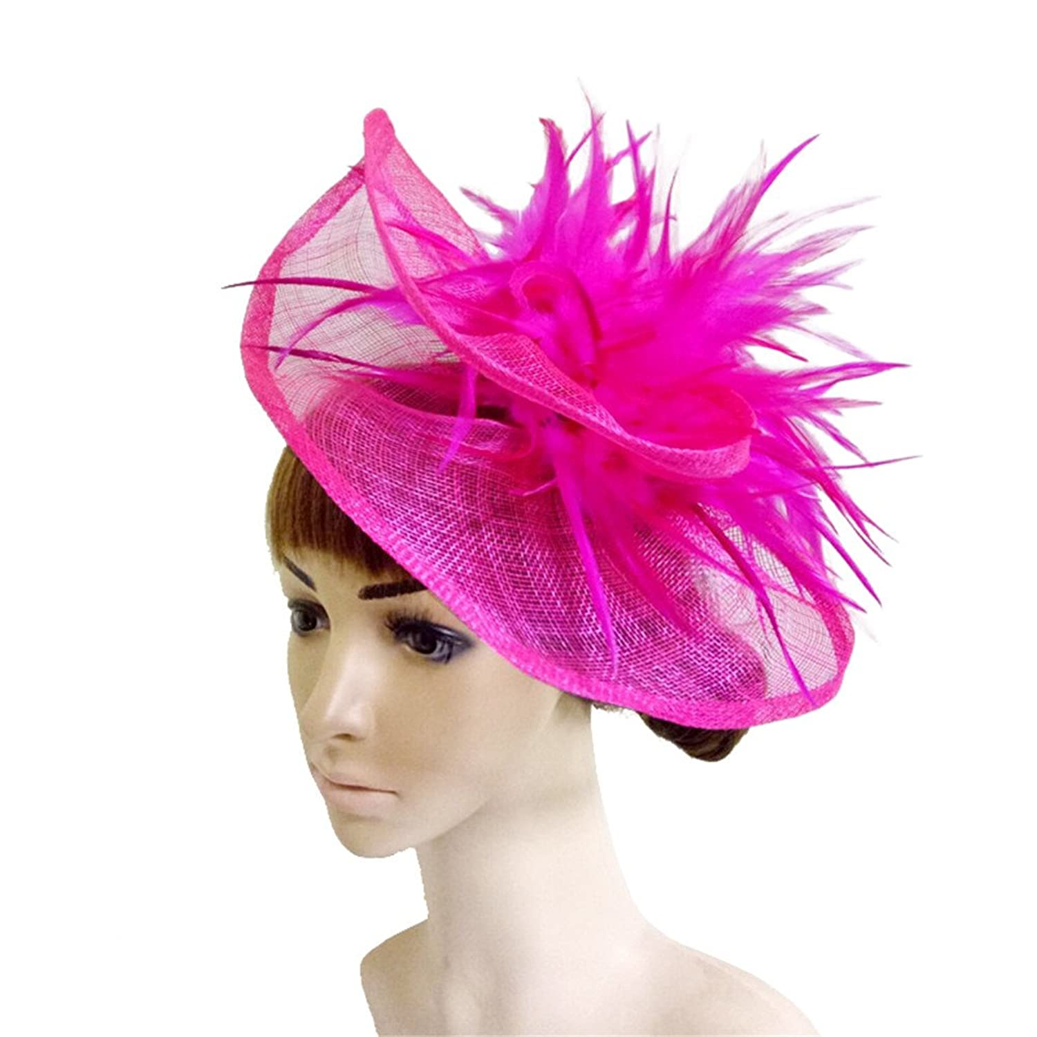 YONQUIL Wedding Sinamay Millinery Headwear Party Headpiece Wedding Hats SYF233