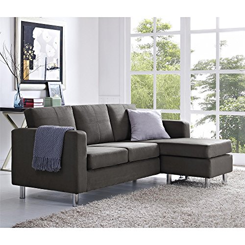 Attirant Amazon.com: Small Spaces Configurable Sectional Sofa, Gray: Kitchen U0026 Dining