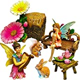 Mood Lab Fairy Garden – Miniature Figurines And Accessories Kit – Hand Painted Fairy Garden Set of 11 pcs for Outdoor or House Decor Review