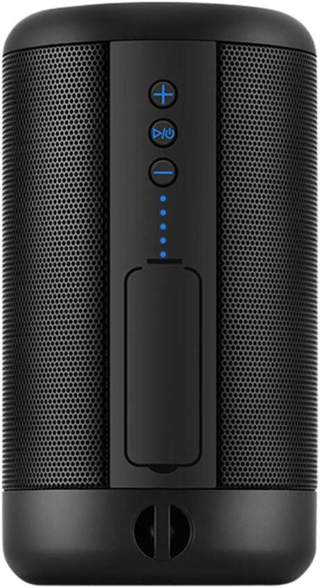 ATSOUND Altavoz Bluetooth portátil IP65 Resistente al Agua Powerbank Bluetooth Wireless Altavoz Mini Stero Bass Altavoz Negro