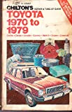Chilton's Repair and Tune-Up Guide, Toyota, 1970 to 1979, Kerry A. Freeman, 0801968380