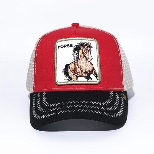 yuange Gorra de béisbol Animal Bordado Sombrero Neto, Caballo 3 ...