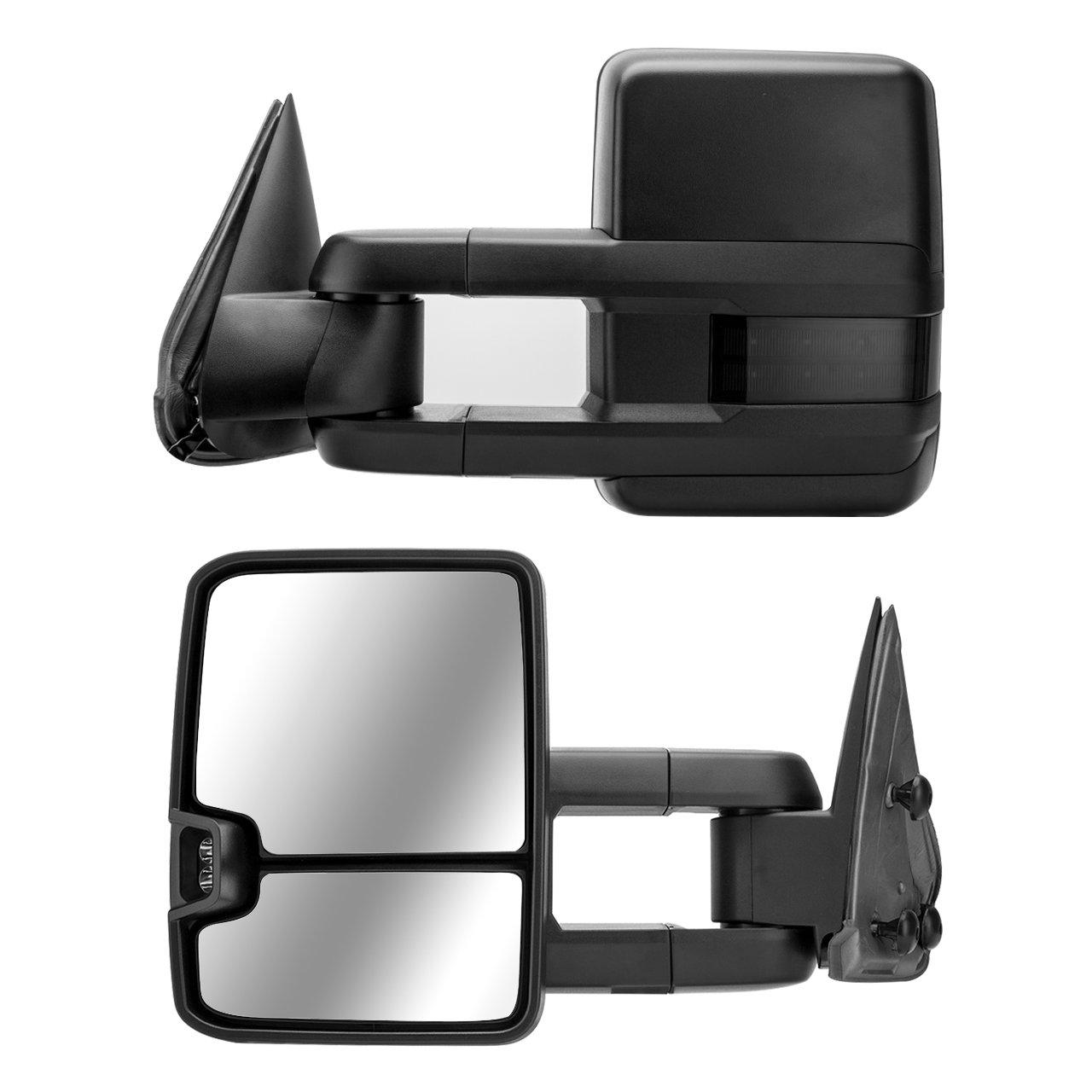 Dedc Tow Mirrors Fit For Chevy Silverado 1500 2500 3500 Reverse Light Wire Diagram 99 Gmc Sierra 2003 2004 2005 2006 A Pair Automotive