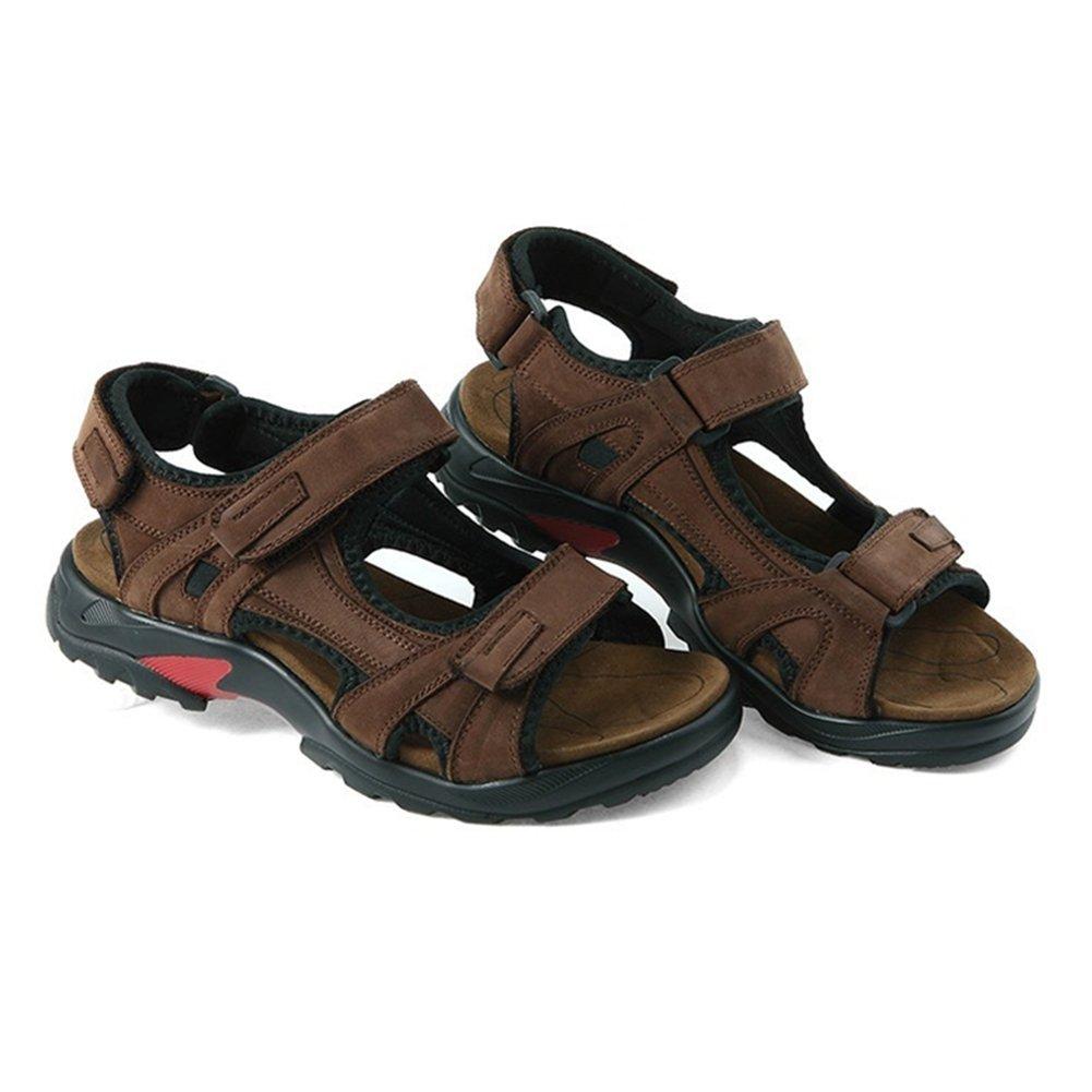 11b11a8bd GenialES Sandalias de Marcha Playa para Hombre de Cuero con Velcro  Ajustable Men s Sandals Talla 39-46  Amazon.es  Zapatos y complementos
