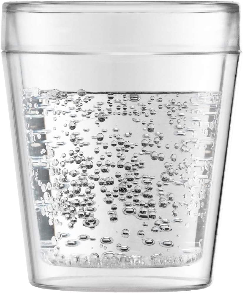 10/Canteen Outdoor Juego de 2/Vasos con Doble Pared pl/ástico Transparente Bodum 11614 0,25/l