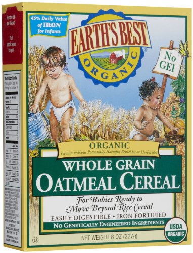 Earths Best 39098-6pack Earths Best Oatmeal Cereal -6x8 Oz.