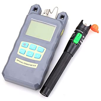 Fiber Tool Small Bag with Optical Power Fiber Meter and 30mW 25-30KM Aluminum Visual Fault Locator with 2.5mm Universal Connector Fiber Optic Cable Tester Checker Test Tool for CATV Telecommunications