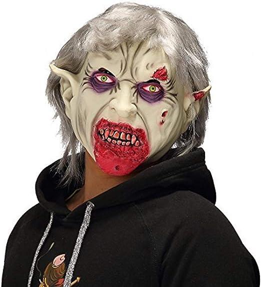HU Scary Halloween Mask, Horror Vampire Zombie, Accesorios de ...