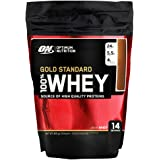 Optimum Nutrition Gold Standard Whey Protein Powder with Glutamine and Amino Acids Protein Shake by ON - Double Rich Chocolate, 14 Servings, 450 g