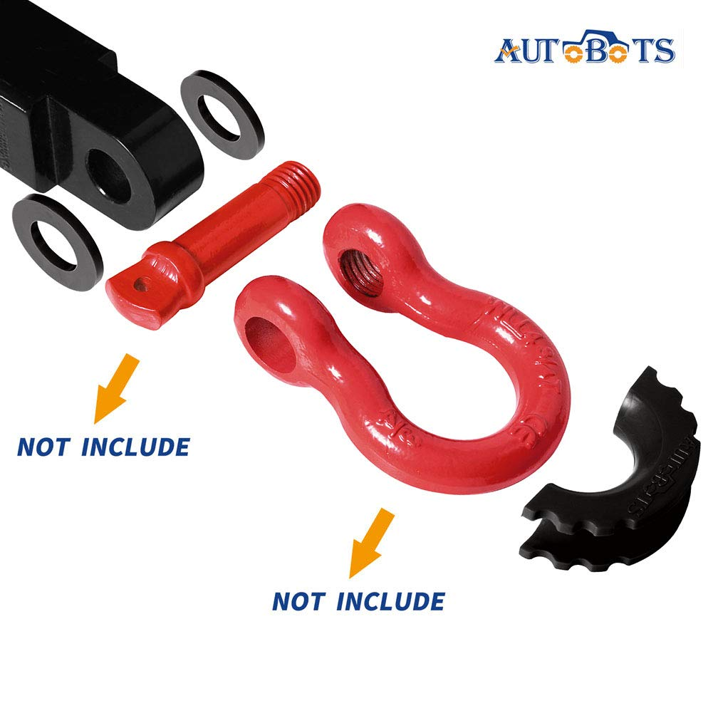 2 Pcs Shackle Isolator 4 Pcs Washers for 3//4 Inch Shackle Gear Design Rattling Protection Cover AUTOBOTS D-Ring Shackle Isolator Washers Kit 6 Colors